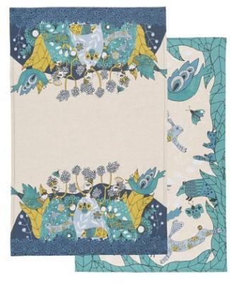 TEA TOWELS S/2 BIRDLAND