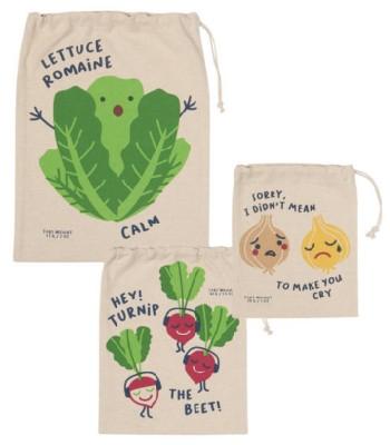 Produce Bag Set/3 Funny Food