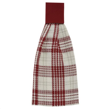 HAND TOWEL PEPPERMINT PLAID
