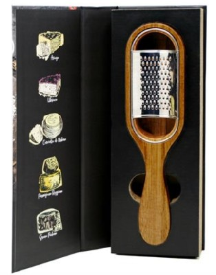 Cheese Grater For Parm Acacia Holder
